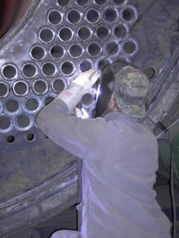 Reparatur Braunkohlekessel