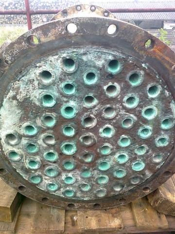 Reinigung Abgaswärmetauscher vorher