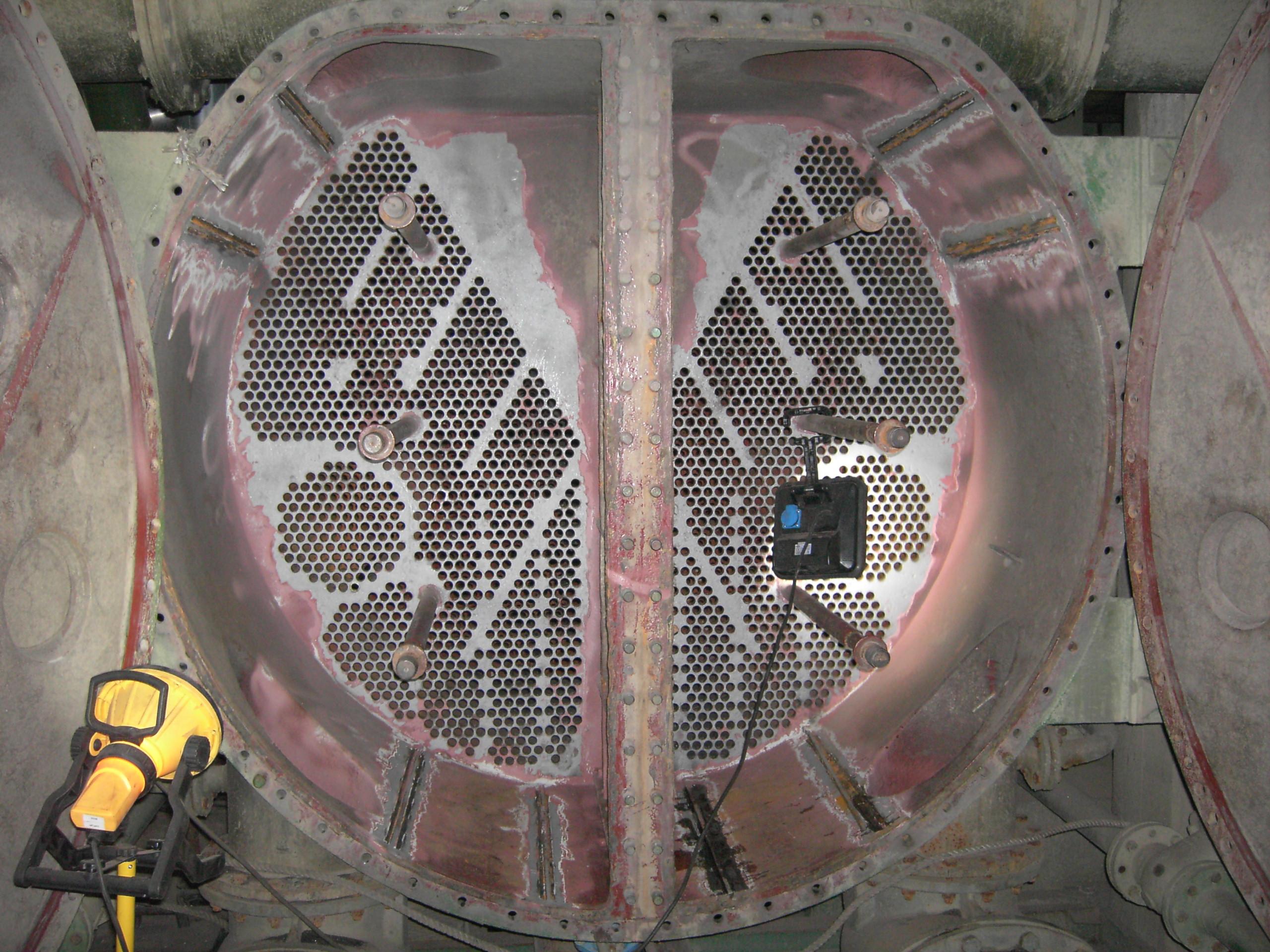 Turbinenkondensator ohne Beschichtung