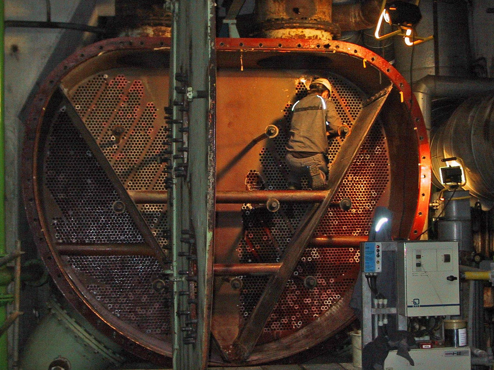 Reparatur Turbinenkondensator
