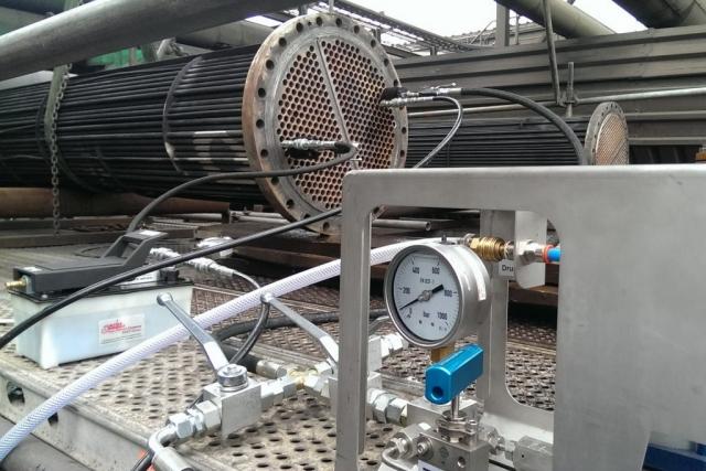 Druckprobe U-Rohr Bündel